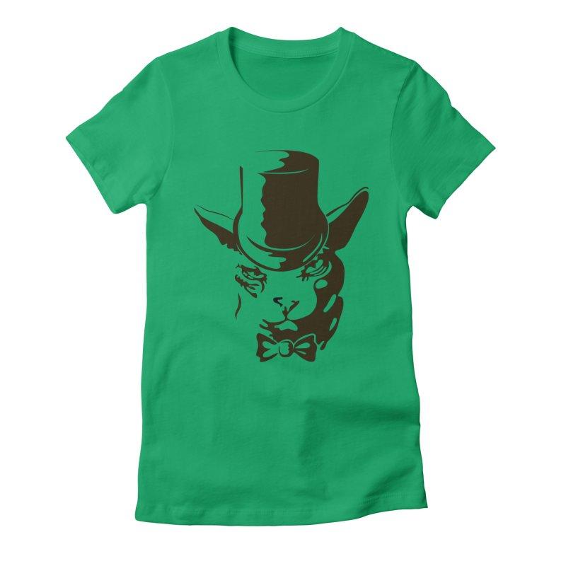 Serious  Sphynx Women's Fitted T-Shirt by nefertitiart's Artist Shop