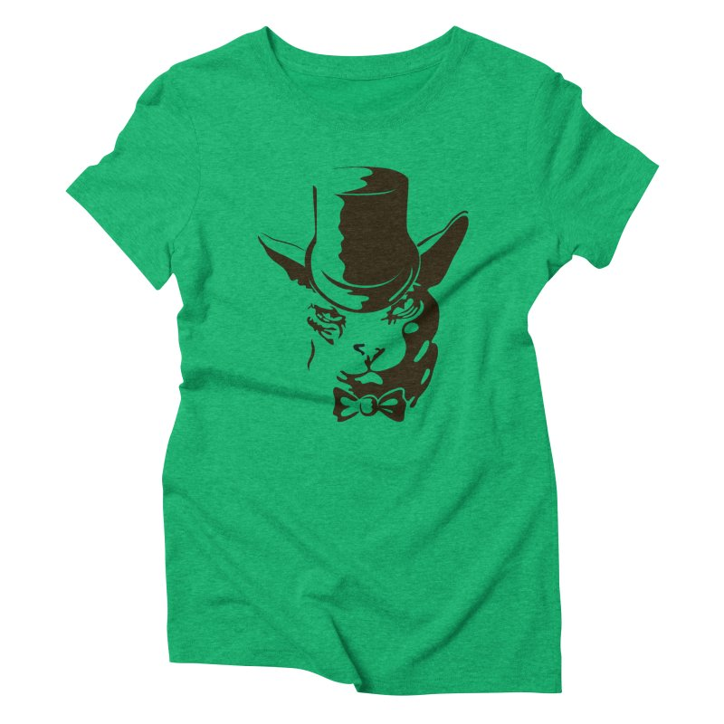 Serious  Sphynx Women's Triblend T-Shirt by nefertitiart's Artist Shop