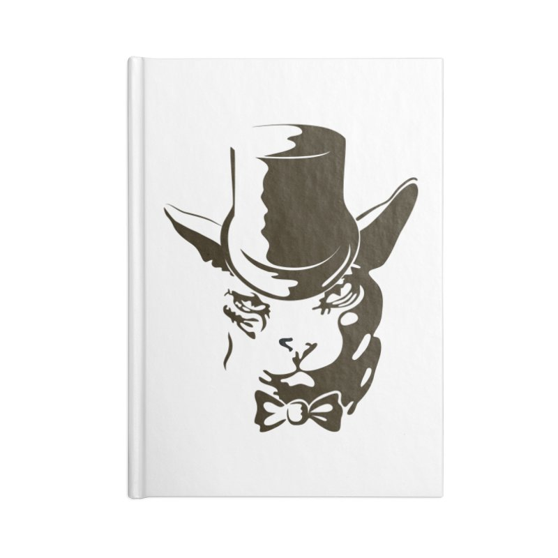Serious  Sphynx Accessories Notebook by nefertitiart's Artist Shop
