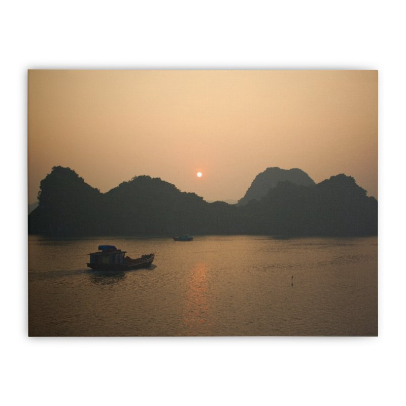 Ha Long Bay sunrise I in Stretched Canvas by Nathan Ellen-Johnson Photography
