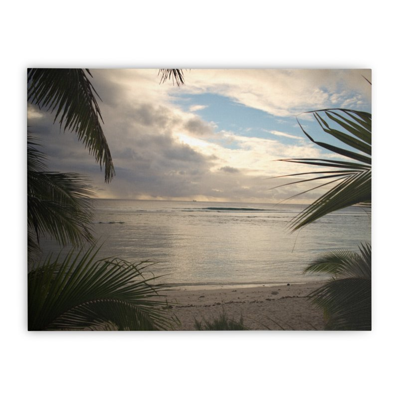 Rarotonga Beach Sunset II in Stretched Canvas by Nathan Ellen-Johnson Photography