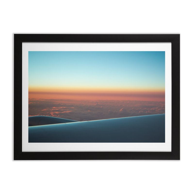 In-flight over the Pacific in Framed Fine Art Print Black by Nathan Ellen-Johnson Photography