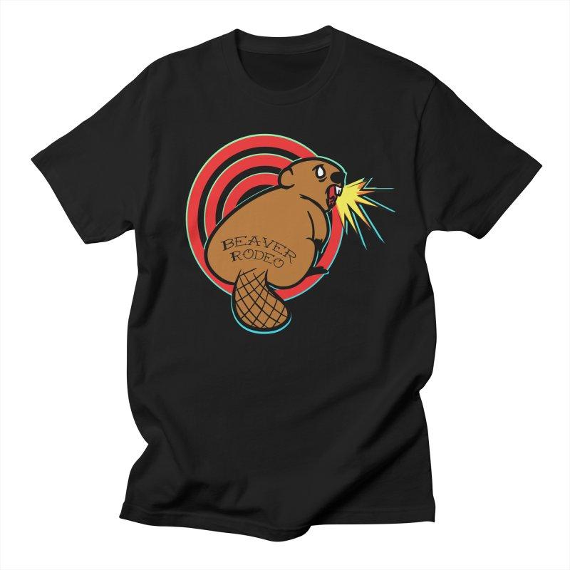 Beaver Rodeo Tee Men's T-Shirt by NEKOLAZ