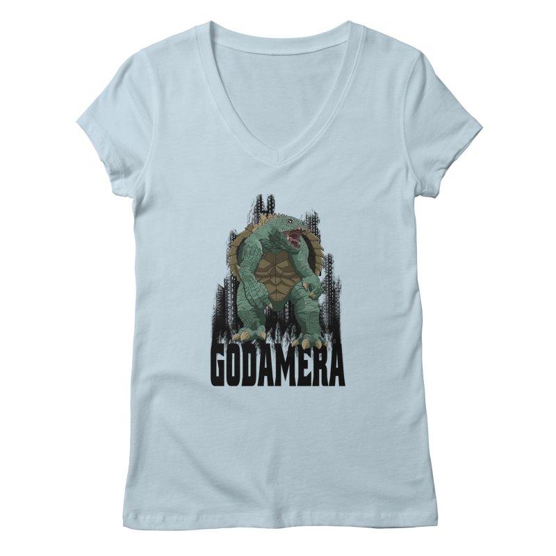 GODAMERA Women's V-Neck by NEKOLAZ
