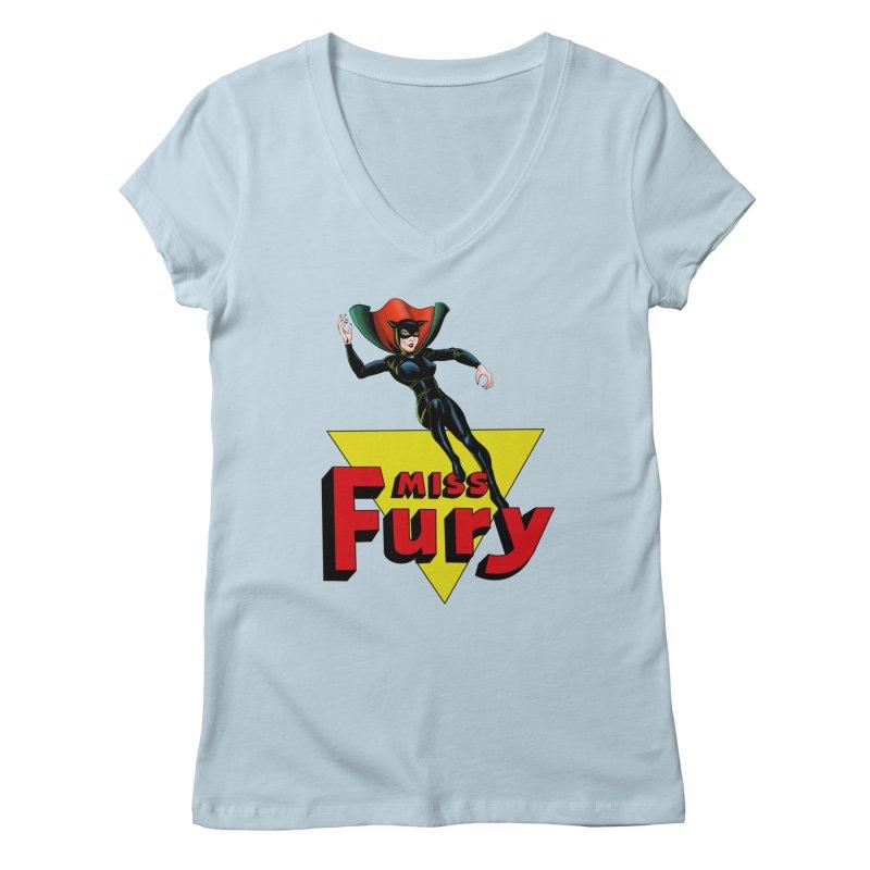 Miss Fury Women's V-Neck by NEKOLAZ