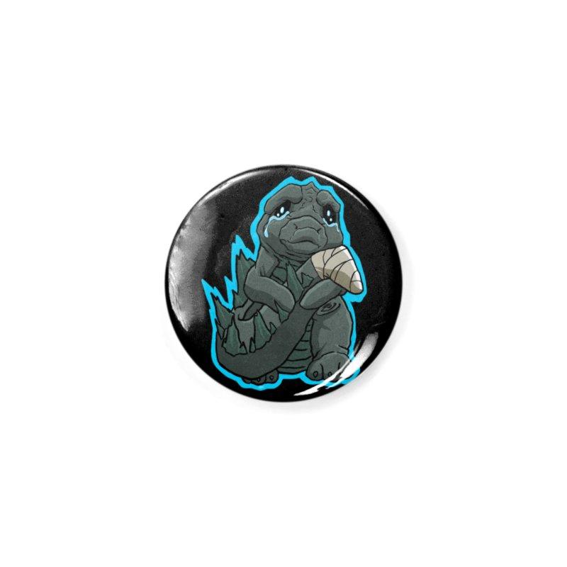 Chibi Kaiju Tears Accessories Button by NEKOLAZ