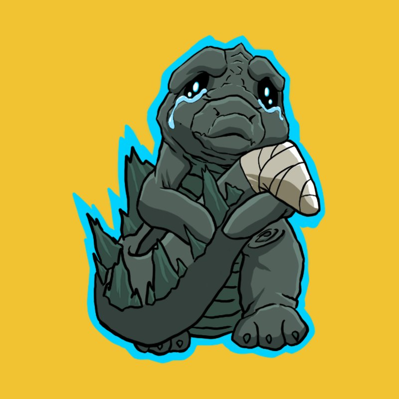 Chibi Kaiju Tears Men's T-Shirt by NEKOLAZ
