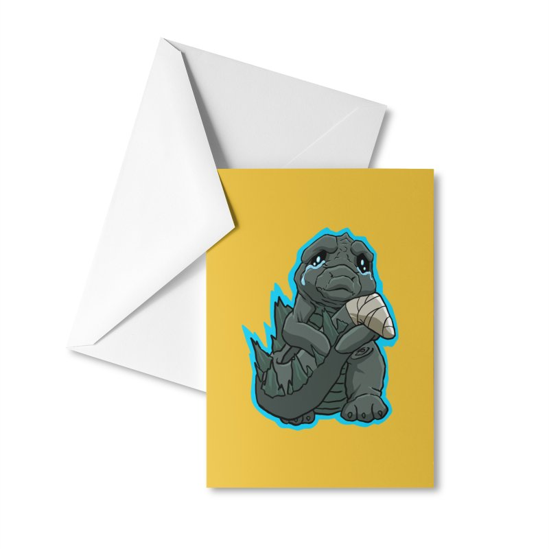 Chibi Kaiju Tears Accessories Greeting Card by NEKOLAZ