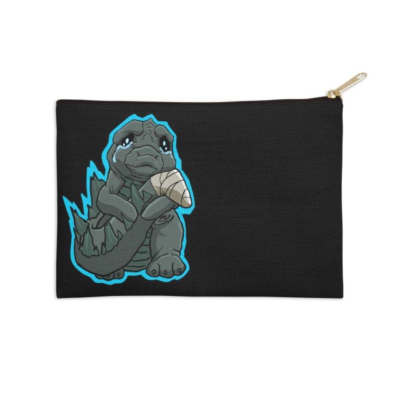 Chibi Kaiju Tears Accessories Zip Pouch by NEKOLAZ