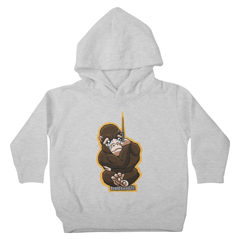 Chibi Gorilla Tears Kids Toddler Pullover Hoody by NEKOLAZ