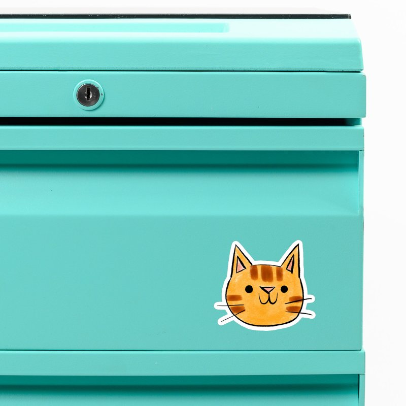 Ginger Cat Accessories Magnet by Nellie Le