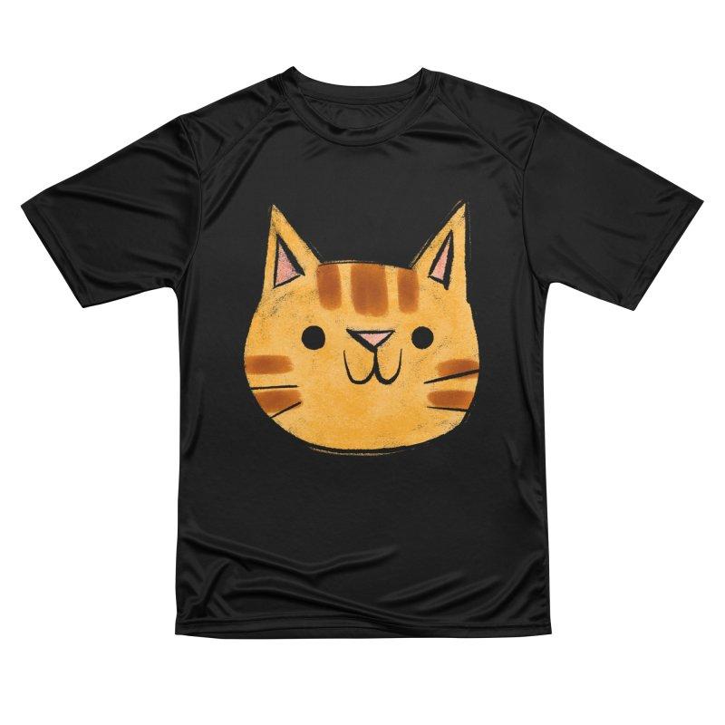 Ginger Cat Men's T-Shirt by Nellie Le
