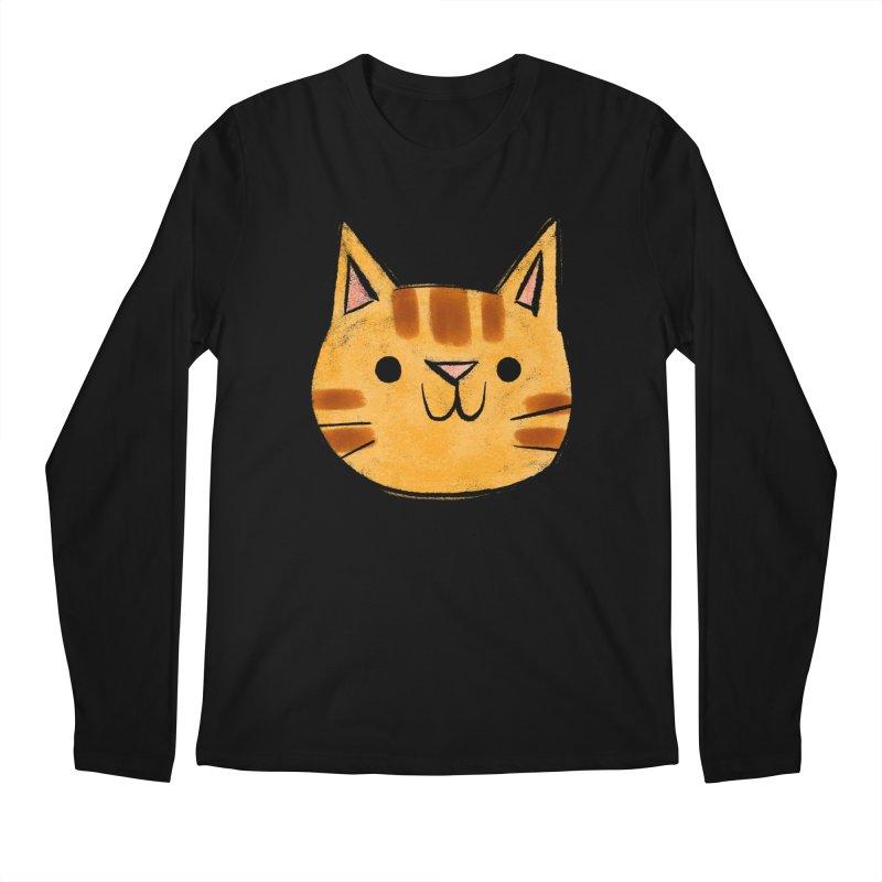 Ginger Cat Men's Longsleeve T-Shirt by Nellie Le