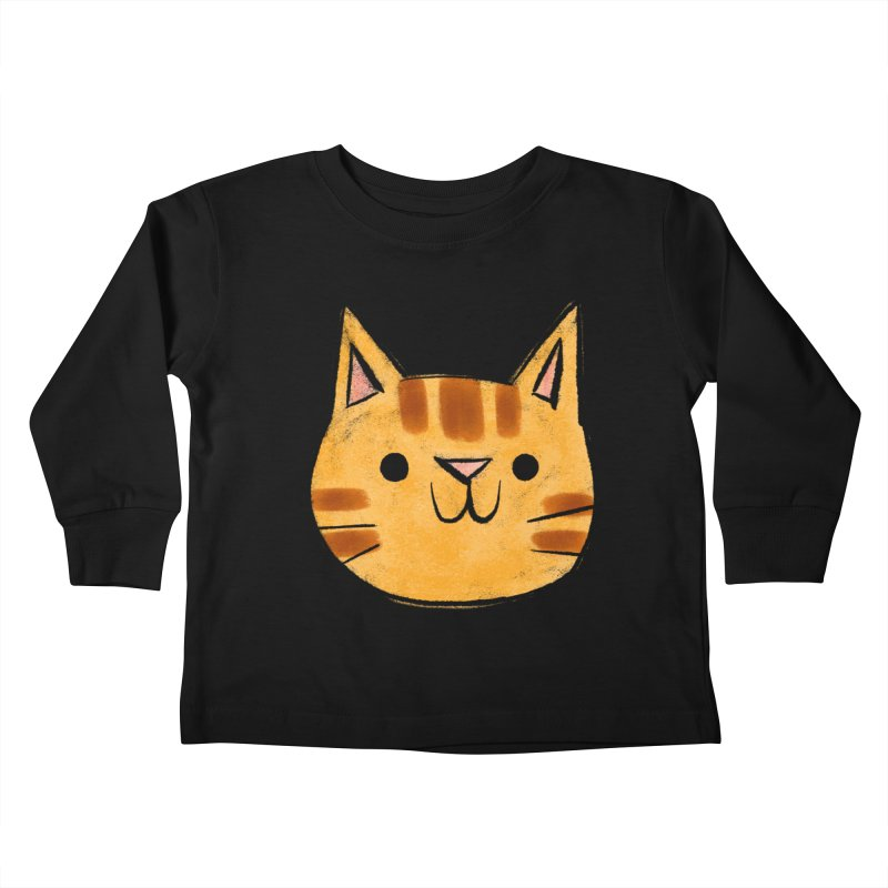 Ginger Cat Kids Toddler Longsleeve T-Shirt by Nellie Le