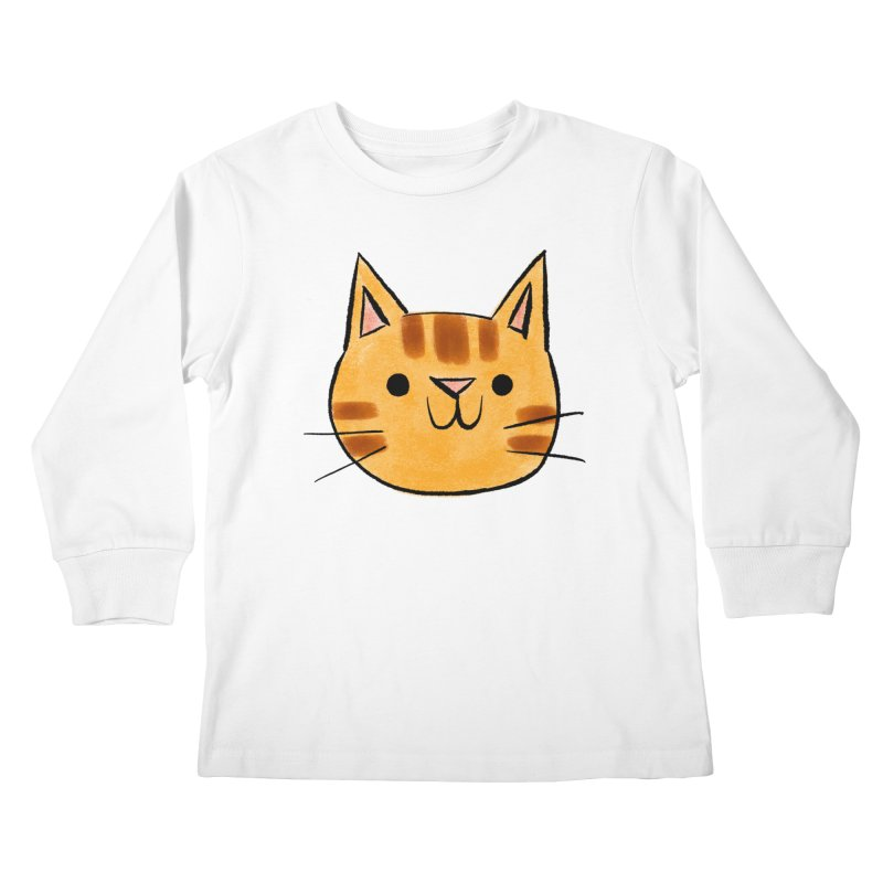 Ginger Cat Kids Longsleeve T-Shirt by Nellie Le
