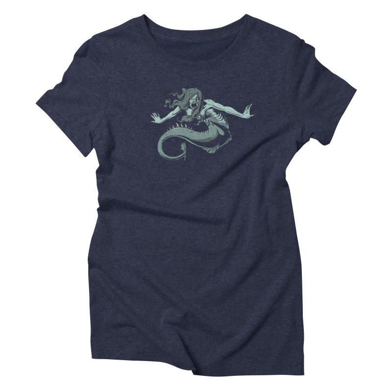 Mermaid Women's T-Shirt by Neon Robot Graphics