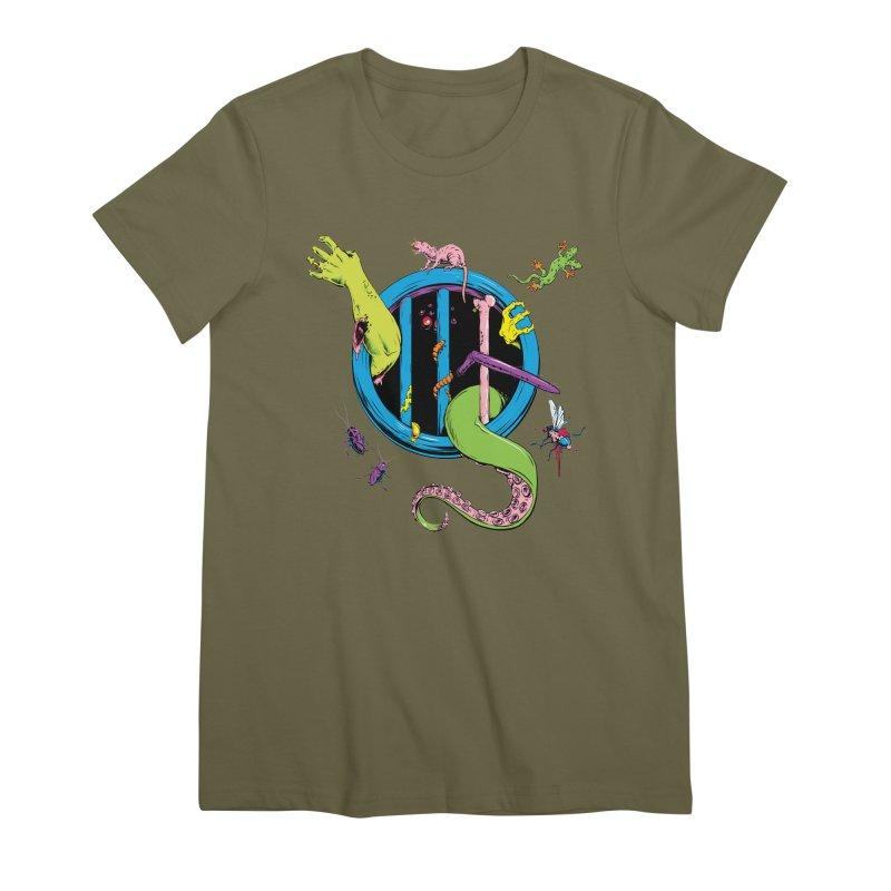 Gross Inside Women's Premium T-Shirt by Neon Robot Graphics