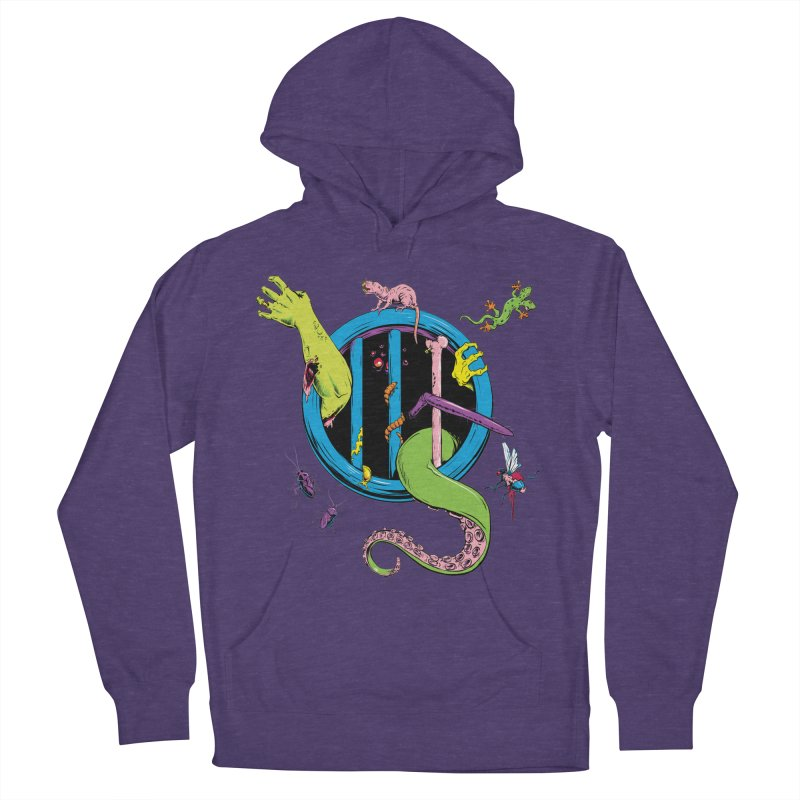 Gross Inside Women's French Terry Pullover Hoody by Neon Robot Graphics