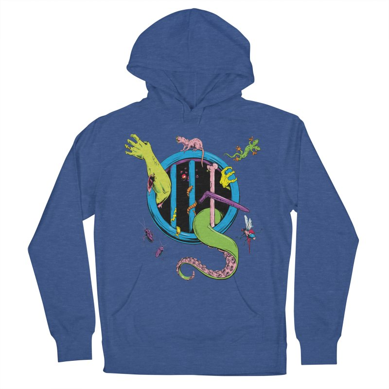 Gross Inside Men's French Terry Pullover Hoody by Neon Robot Graphics