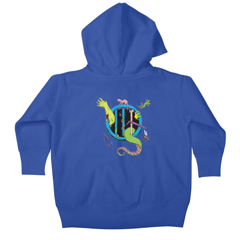 Gross Inside Kids Baby Zip-Up Hoody by Neon Robot Graphics
