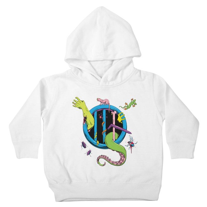 Gross Inside Kids Toddler Pullover Hoody by Neon Robot Graphics