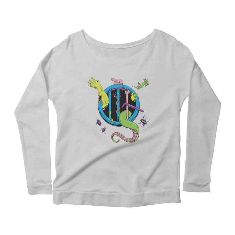 Gross Inside Women's Scoop Neck Longsleeve T-Shirt by Neon Robot Graphics