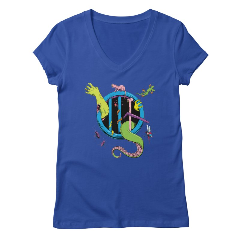 Gross Inside Women's Regular V-Neck by Neon Robot Graphics