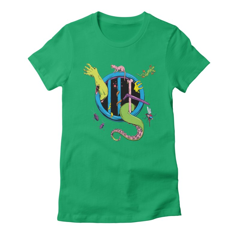 Gross Inside Women's Fitted T-Shirt by Neon Robot Graphics