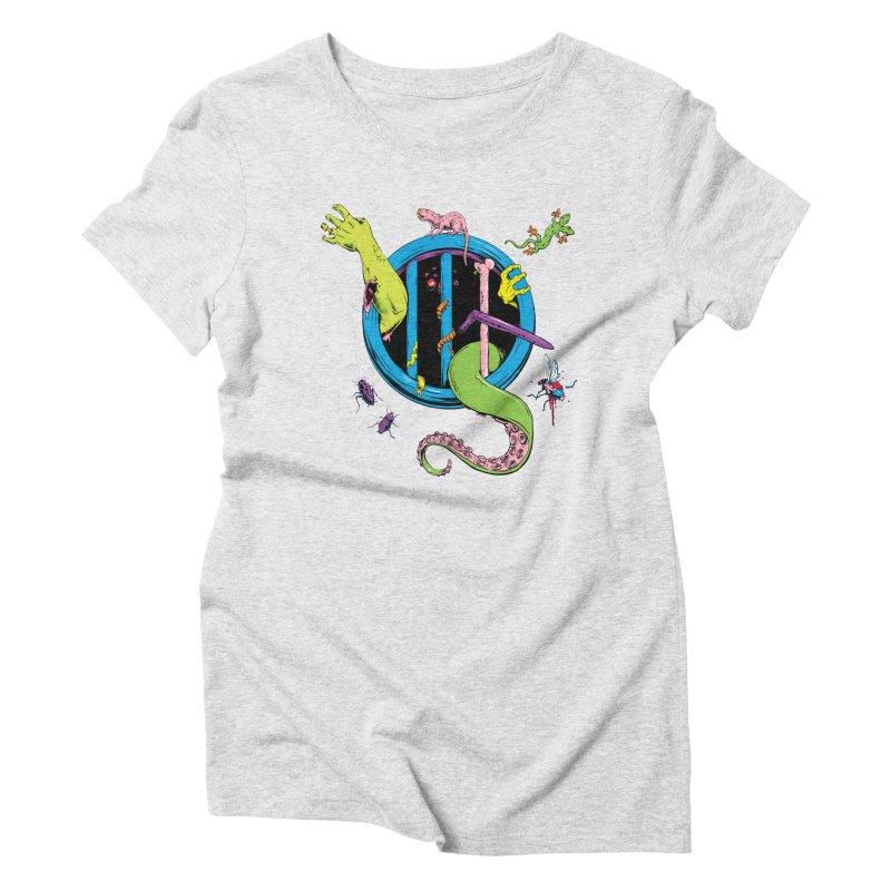 Gross Inside Women's Triblend T-Shirt by Neon Robot Graphics