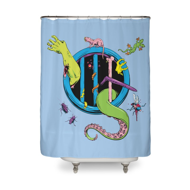 Gross Inside Home Shower Curtain by Neon Robot Graphics