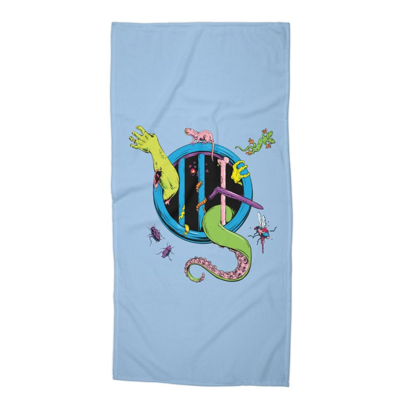 Gross Inside Accessories Beach Towel by Neon Robot Graphics