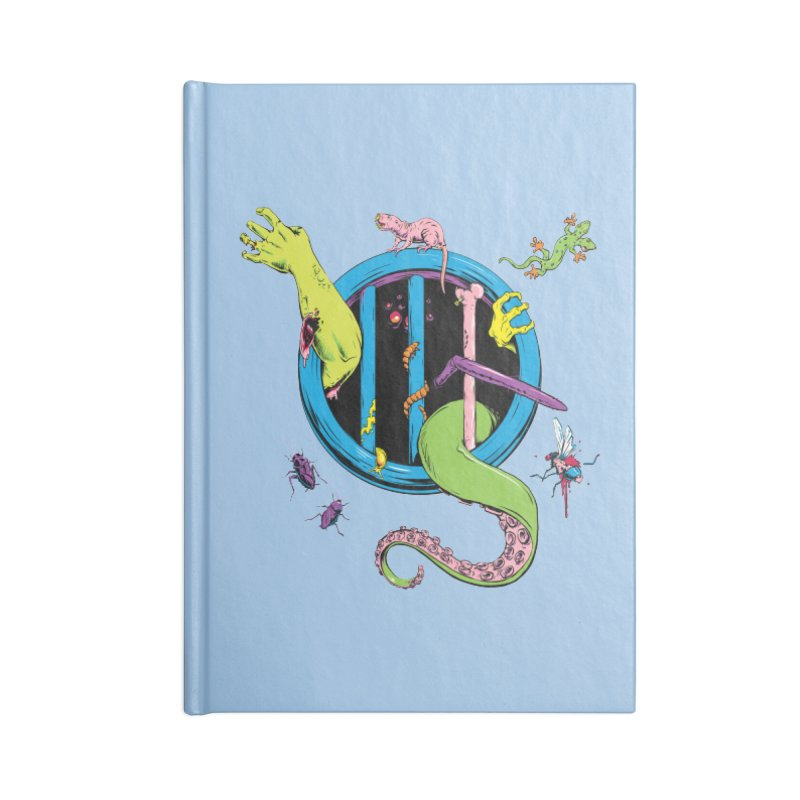 Gross Inside Accessories Lined Journal Notebook by Neon Robot Graphics