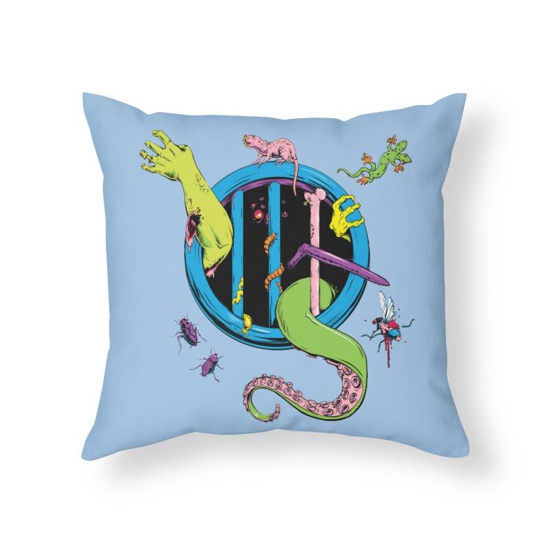 Gross Inside Home Throw Pillow by Neon Robot Graphics