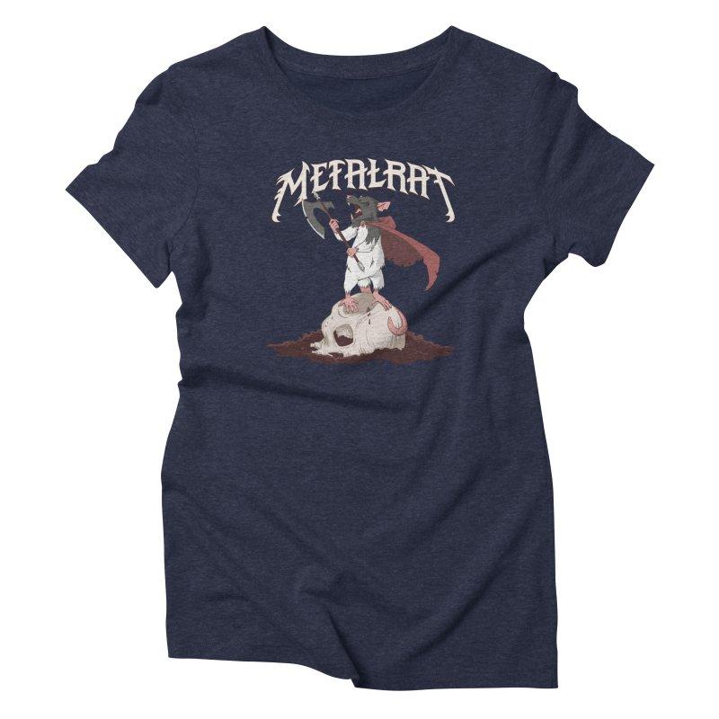 Metalrat Women's T-Shirt by Neon Robot Graphics
