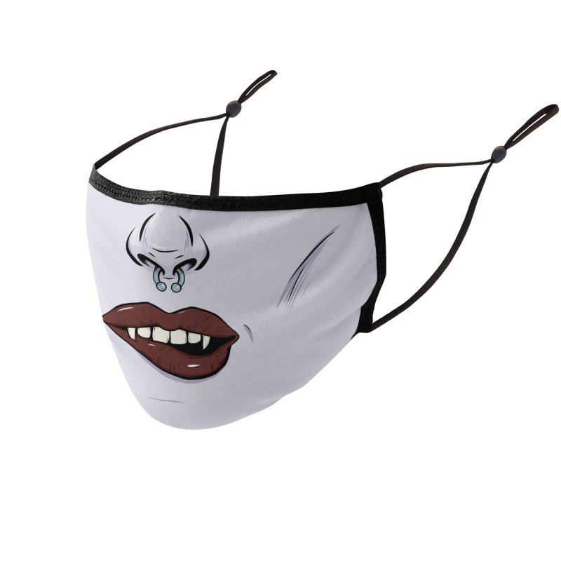 Let There Be Lips Accessories Face Mask by Neon Robot Graphics