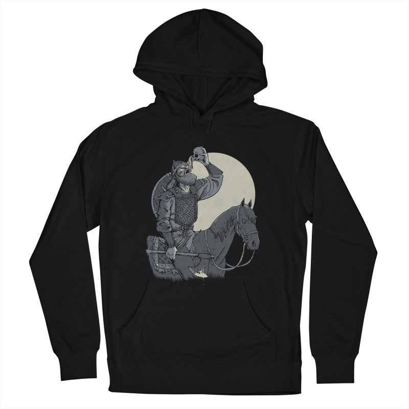 Skal Men's French Terry Pullover Hoody by Neon Robot Graphics