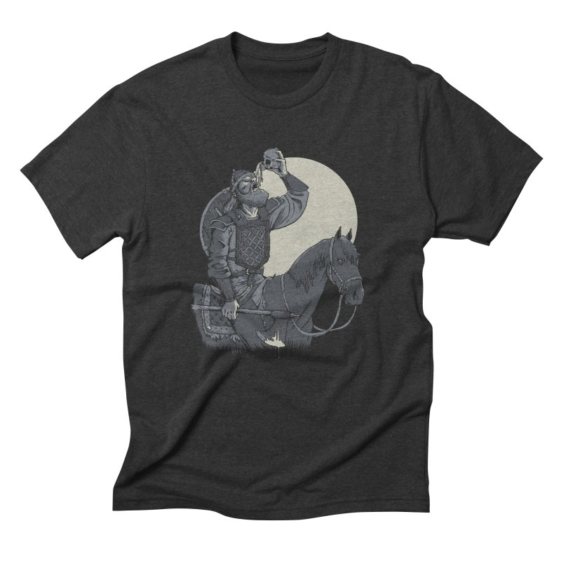Skal Men's Triblend T-Shirt by Neon Robot Graphics