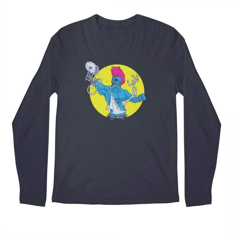 Runk Pock Men's Regular Longsleeve T-Shirt by Neon Robot Graphics