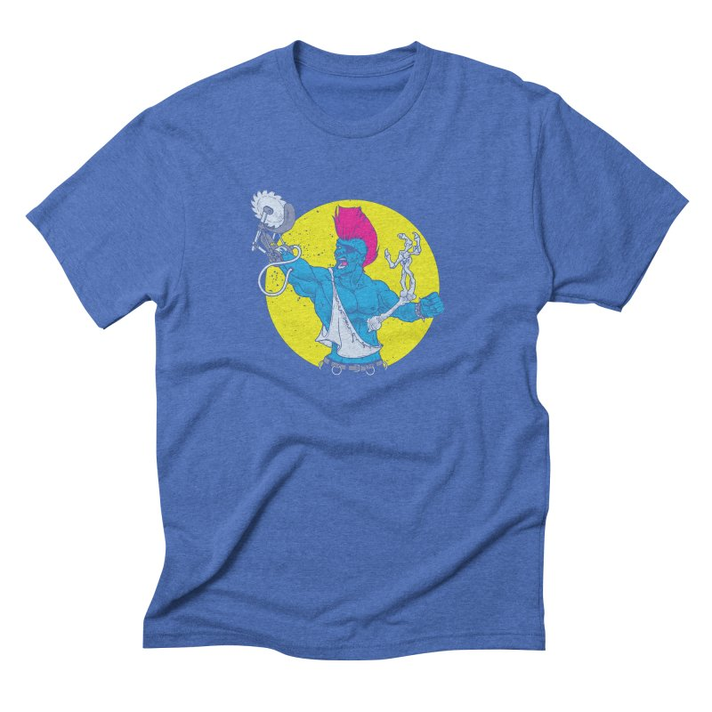 Runk Pock Men's Triblend T-Shirt by Neon Robot Graphics