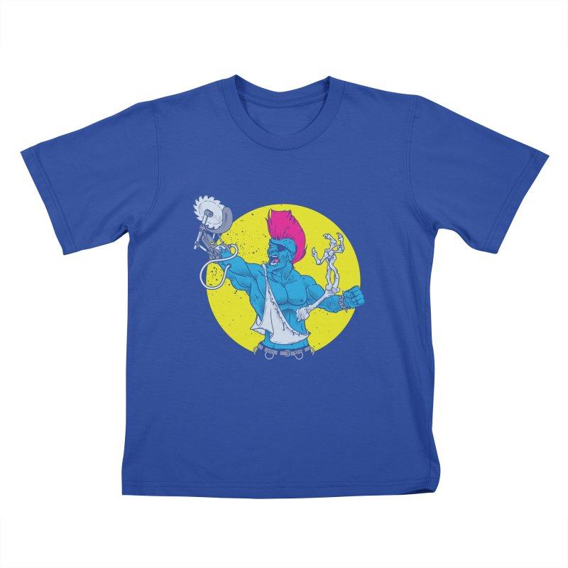 Runk Pock Kids T-Shirt by Neon Robot Graphics