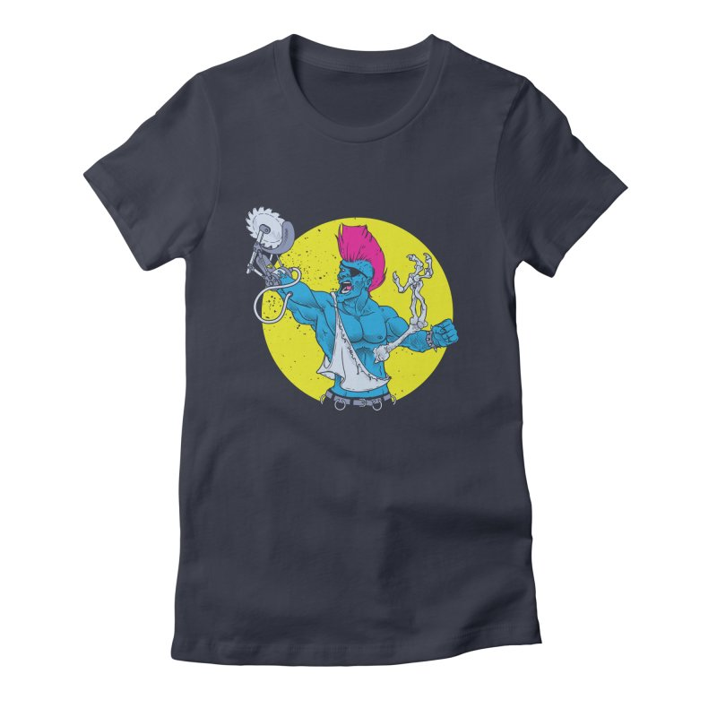 Runk Pock Women's Fitted T-Shirt by Neon Robot Graphics