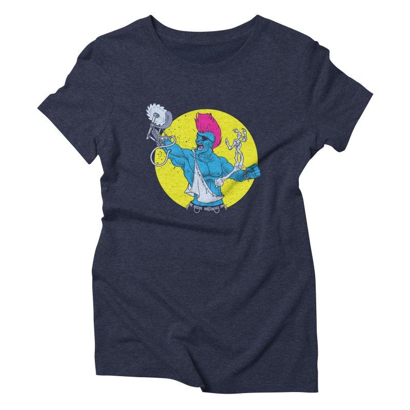 Runk Pock Women's Triblend T-Shirt by Neon Robot Graphics