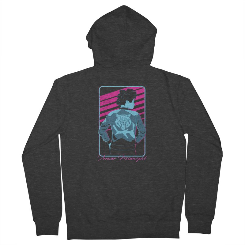 Forever Midnight Women's French Terry Zip-Up Hoody by Neon Robot Graphics