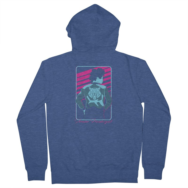 Forever Midnight Men's French Terry Zip-Up Hoody by Neon Robot Graphics