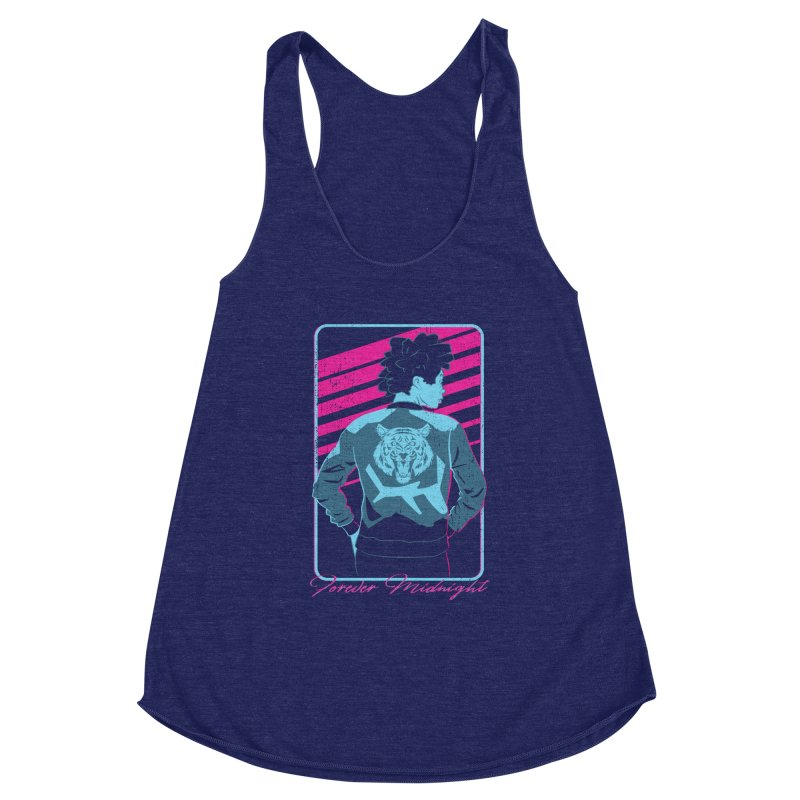 Forever Midnight Women's Racerback Triblend Tank by Neon Robot Graphics