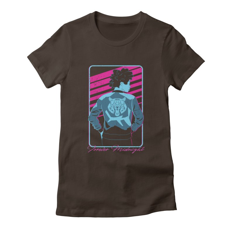 Forever Midnight Women's Fitted T-Shirt by Neon Robot Graphics