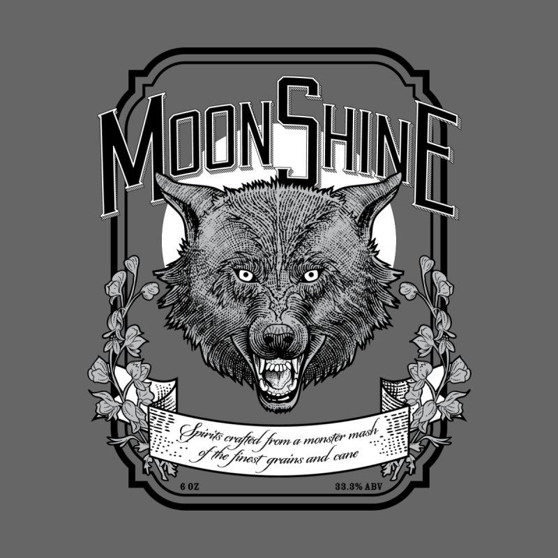 Moonshine Men's T-Shirt by Neon Robot Graphics
