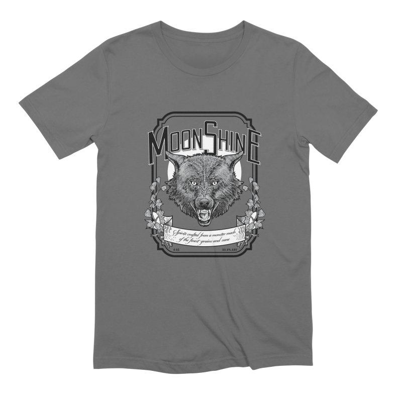 Moonshine Men's T-Shirt by Neon Robot Graphics