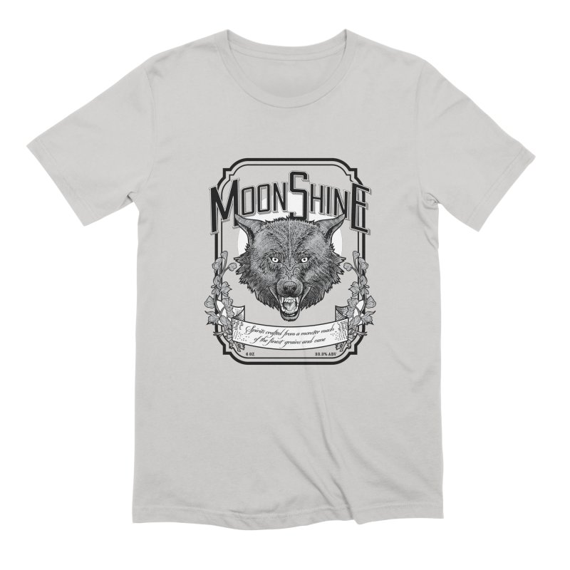 Moonshine Men's Extra Soft T-Shirt by Neon Robot Graphics