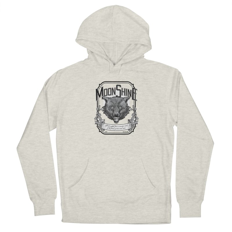 Moonshine Women's French Terry Pullover Hoody by Neon Robot Graphics